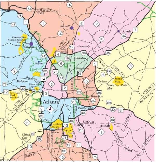 Atlanta Traffic Map